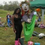Liz & her new Friend - Lower Burgh Meadow 28-09-2014