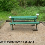 Bench Painted and Placed 11-05-2014