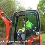George driving the digger 10-05-2014